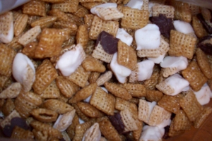 Caramel and Chocolate Chex Mix