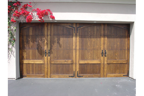 Our french inspired home european style garages and garage doors - Double wooden garage doors ...