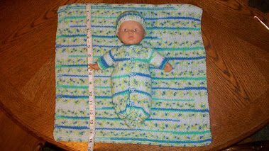"9"" Baby Doll with Micro Preemie Bunting"