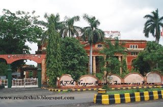 RTM Nagpur Results Summer 2013 Exam