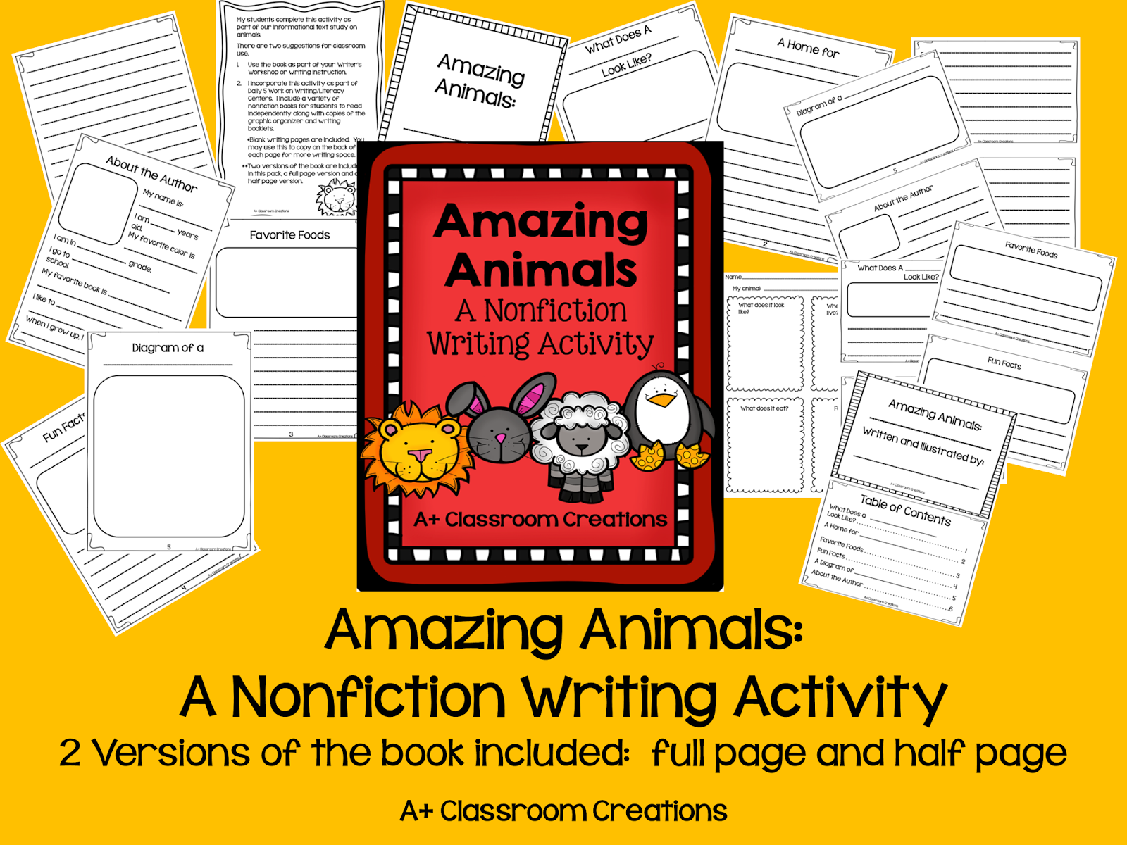 http://www.teacherspayteachers.com/Product/Amazing-Aminals-A-Non-Fiction-Writing-Activity-1181415