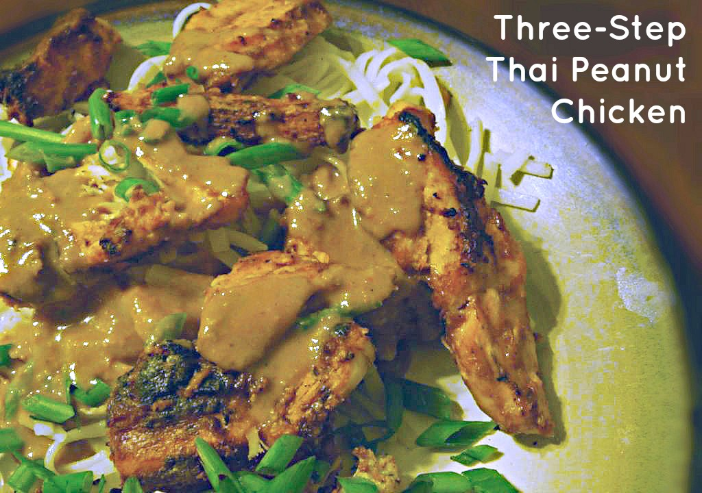 three-step thai peanut chicken