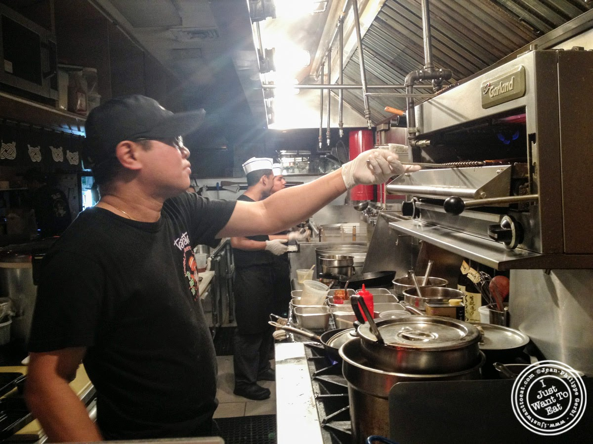 image of kitchen at Tabata Noodle in Hell's Kitchen, NYC, New York