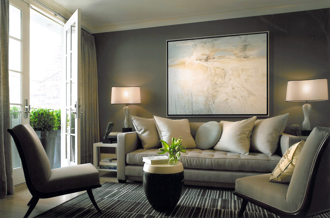 New home interior design sandra nunnerley a townhouse aerie for Townhouse interior decorating