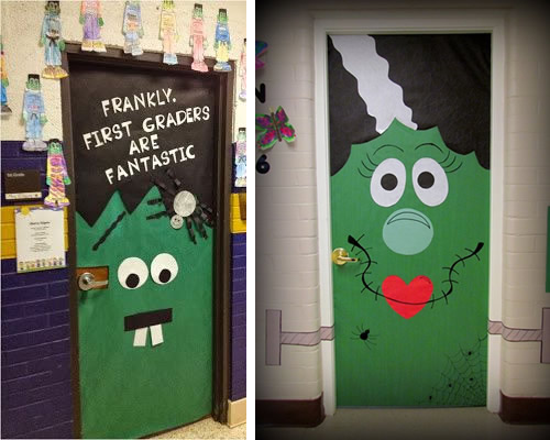 Manualidades 12 ideas para decorar la puerta de clase en halloween Decoracion de puertas para halloween