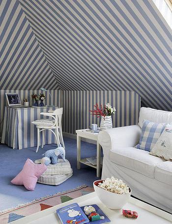 Neo arquitecturaymas dormitorio para ni os en la buhardilla for Diseno de buhardillas