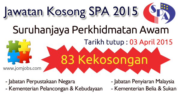Jawatan Kosong SPA Terkini 03 April 2015