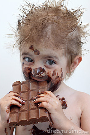 pictures of kids eating chocolate