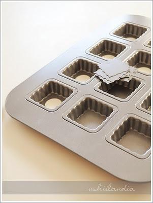 foremki do ciastek i formy do pieczenia ciast - przewodnik (foremka do minitarteletek kwadratowych)