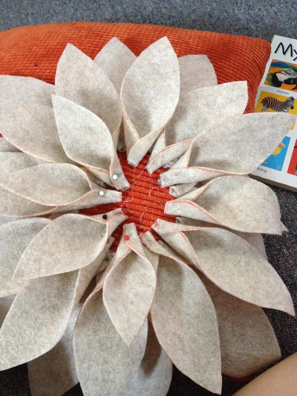 Diy Felt Flower Pillow Cozy For Fall Kasey Trenum