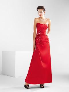 kırmızı uzun abiye modeli