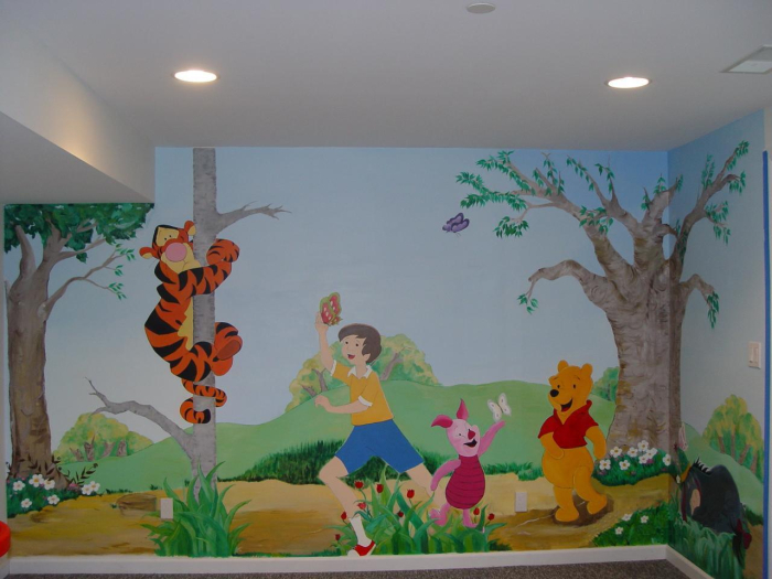 Art wall decor kids fun wall decor ideas for Mural kids room