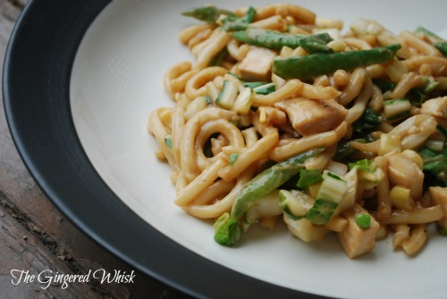 Udon Noodles with Asian Vegetables and Peanut Sauce - The ...