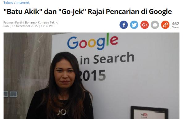 Kata Kunci Apa yang Paling Banyak di Cari Netizen di Google Sepanjang Tahun 2015?