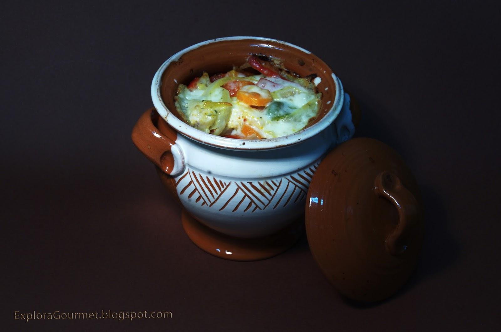 Czenaki con pollo y verduras