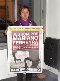 LA CONCEJAL DEL FAP EN AZUL TAMBIÉN PIDE JUSTICIA POR MARIANO