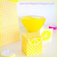 printable polka dot lemon box