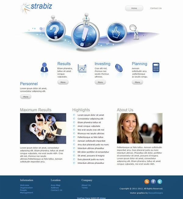Strabiz - Free Wordpress Theme