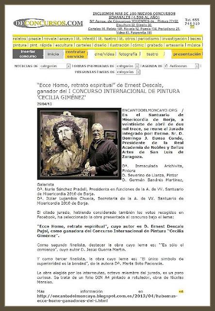 ECCE HOMO-PINTURA-BORJA-PINTOR-DECONCURSOS-ERNEST DESCALS-