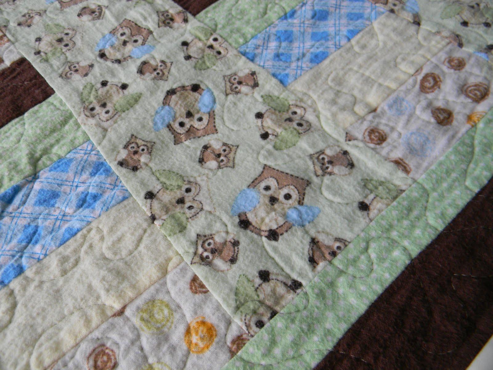 Craftopotamus: Flannel Owl Baby Quilt : batting for baby quilt - Adamdwight.com