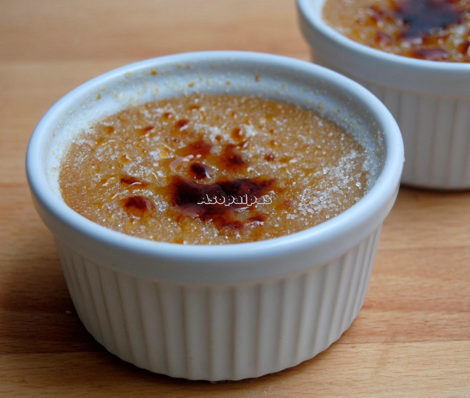Crème Brûlée de Sirope de Arce (Maple Crème Brûlée)