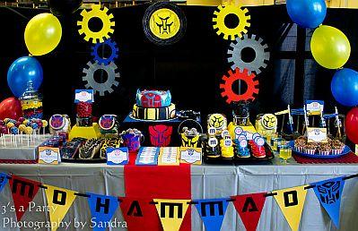 MuyAmeno.com: Fiestas Infantiles, Decoración Transformers
