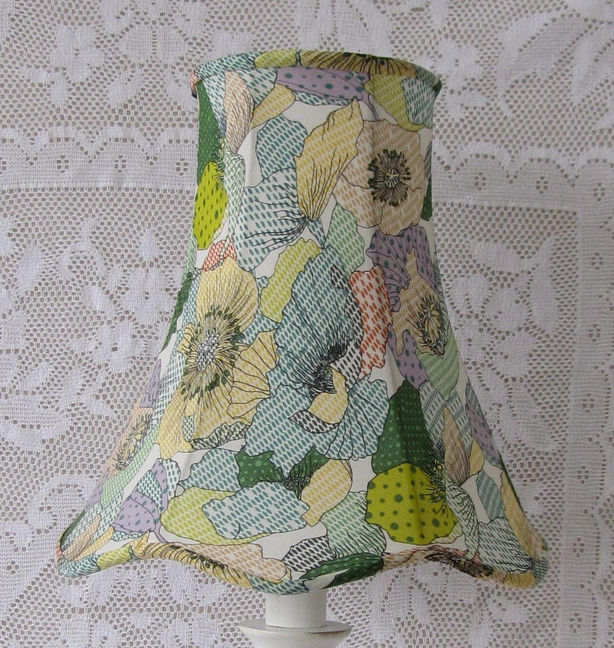 Small things simple pleasures how to recover a lampshade tutorial how to recover a lampshade tutorial greentooth Choice Image