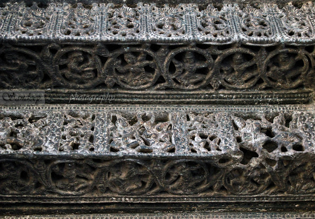 Intricate carvings on the east door jamb