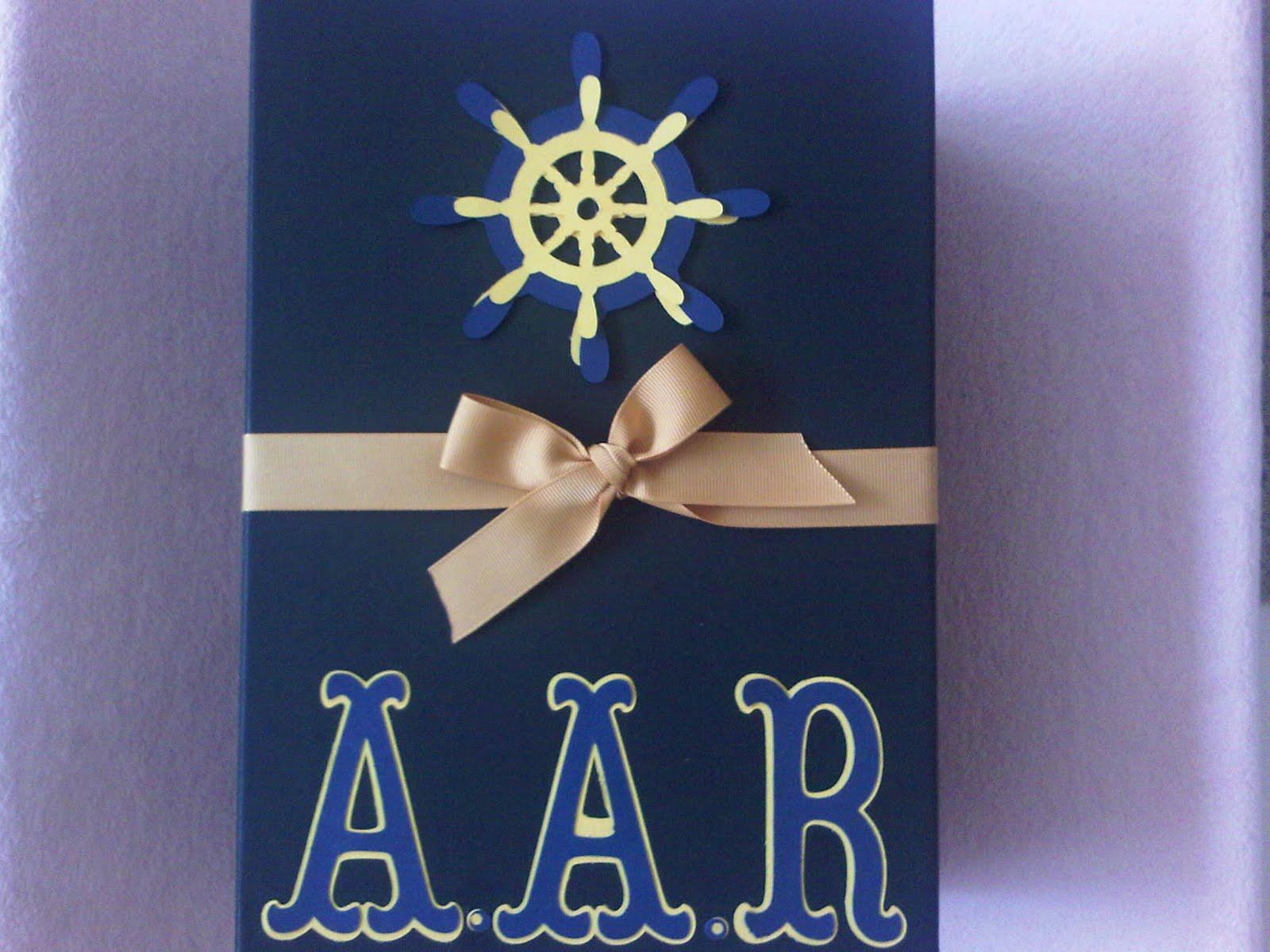 Sugar Plum Card Creations Nautical Baby Shower Invitation