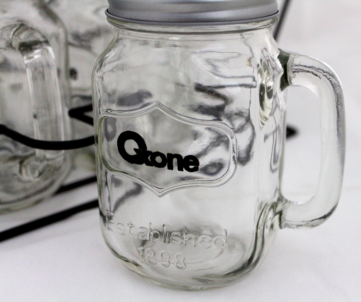 OX-036 7Pcs Mason Mugs Oxone with Rack