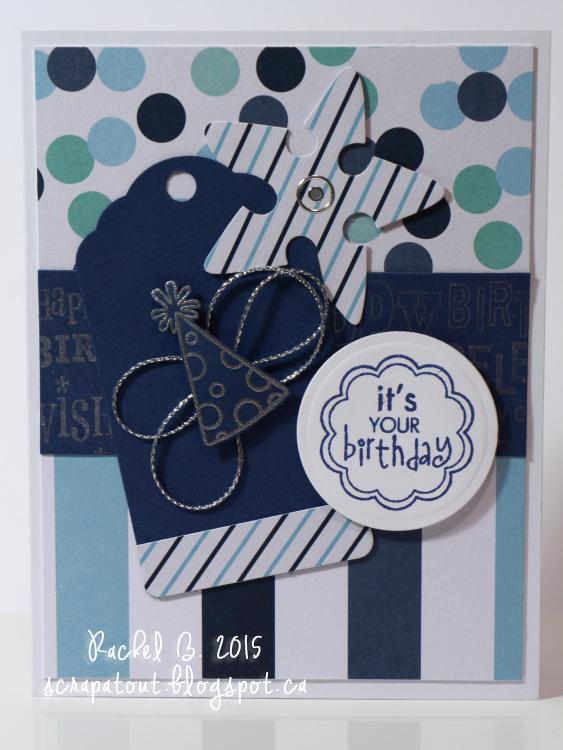 Handmade card, Birthday, Boy, Hero Arts, Basic Grey