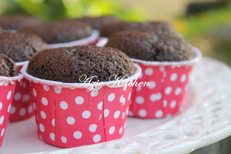 Muffin Coklat Sedap Azie Kitchen