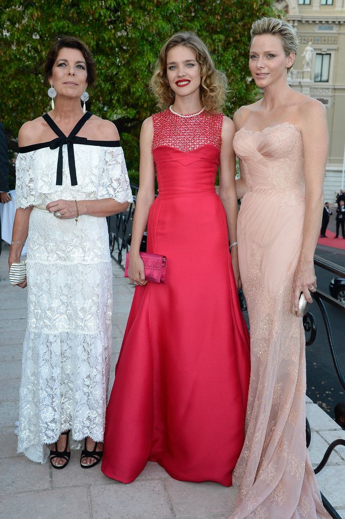 Princess Caroline in Chanel Couture - Natalia Vodianova in Christian Dior Couture -  Princess Charlene in Atalier Versace - Love Ball  2013