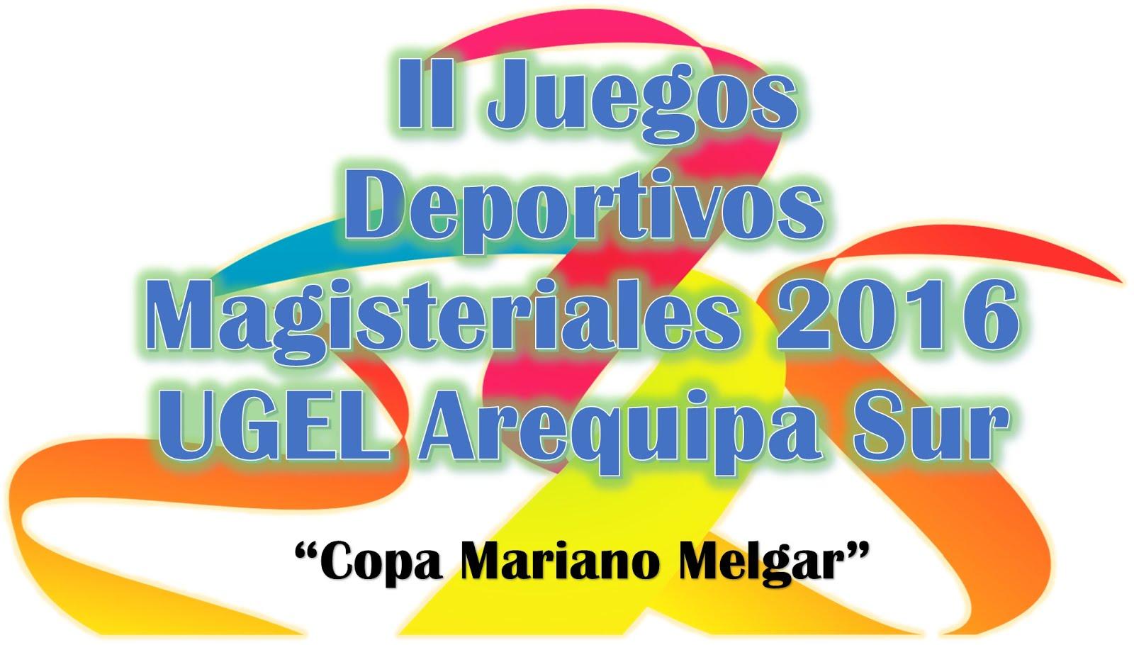 II JUEGOS DEPORTIVOS MAGISTERIALES 2016