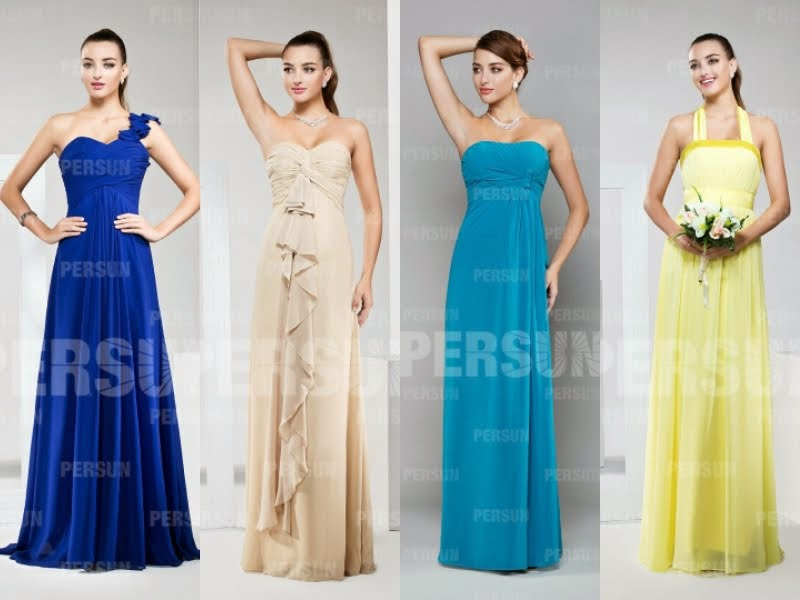 2014 most fashionable long bridesmaids dresses