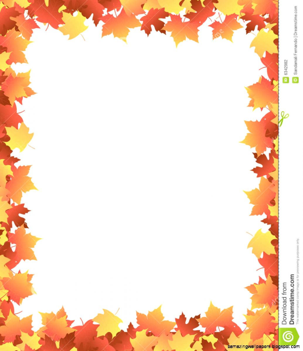 Autumn Leaves maple Border Stock Photography   Image 6342982