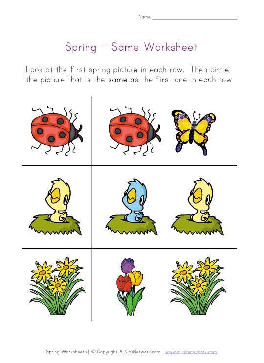 Critical image with regard to spring printable worksheets
