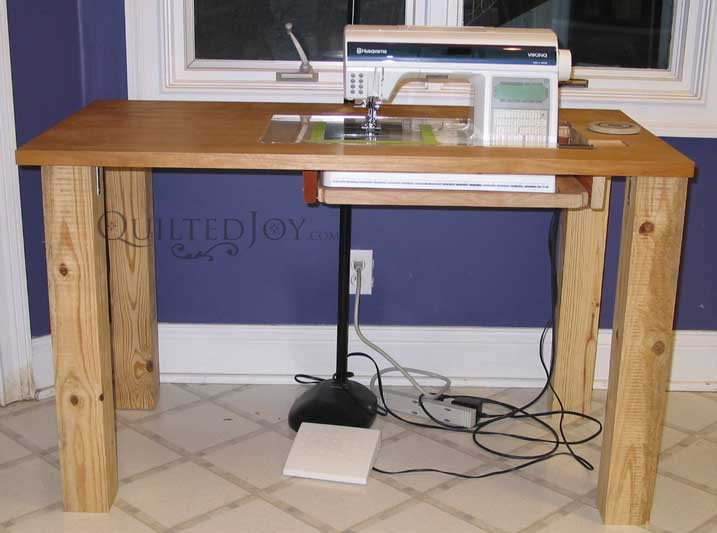 how to make a sewing machine table