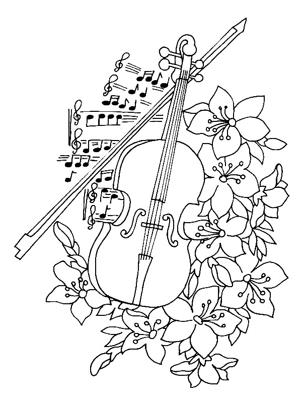 coloring pages musical instruments free collections