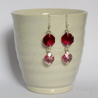 Crystals Earrings by MagsBeadsCreation