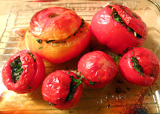 Baking Dish of Baked Tomatoes