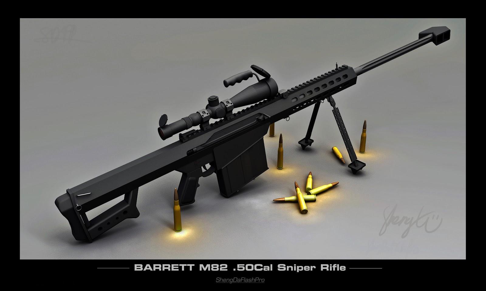 Barrett M82 Rifle 3D (Senjata Langka Lebih sakit dari cheytac m200)