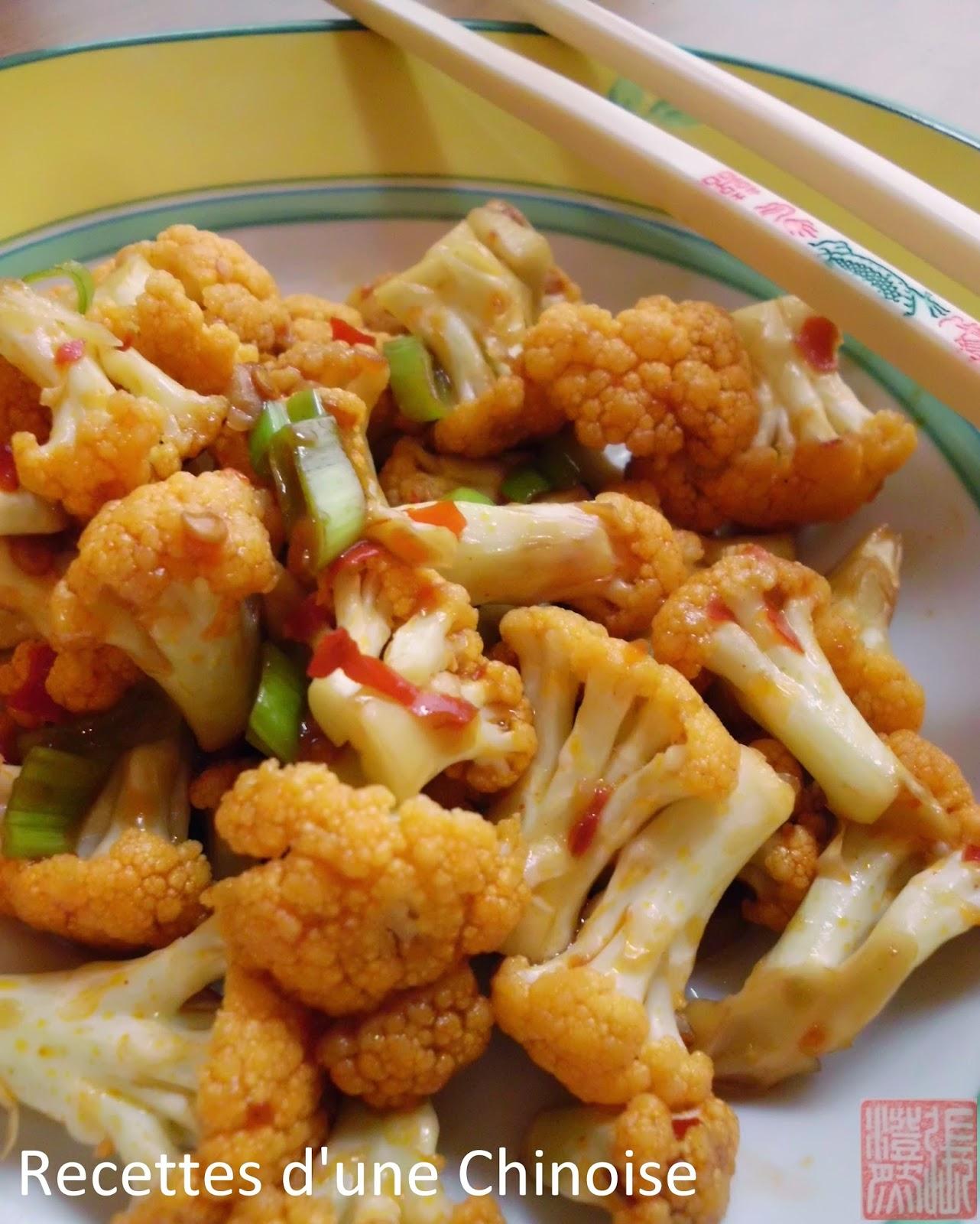 Recettes D Une Chinoise Spicy Chou Fleur Au Wok 干煸菜花 Ganbian
