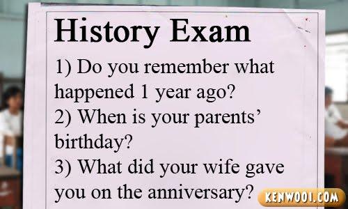 history exam paper