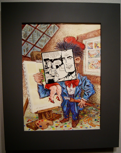 Cover Art, Print Magazine, May-June 1981 from Art Spiegelman's CO-Mix: A Retrospective at the Art Gallery of Ontario in Toronto, artmatters, culture, graphic novels, The New Yorker, Maus, Comic books, drawings, pulitzer prize, ontario, canada, the purple scarf, melanie.ps