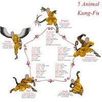 kung fu style of 5 animal shaolin warrior style