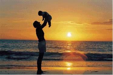 pai e filho e natureza