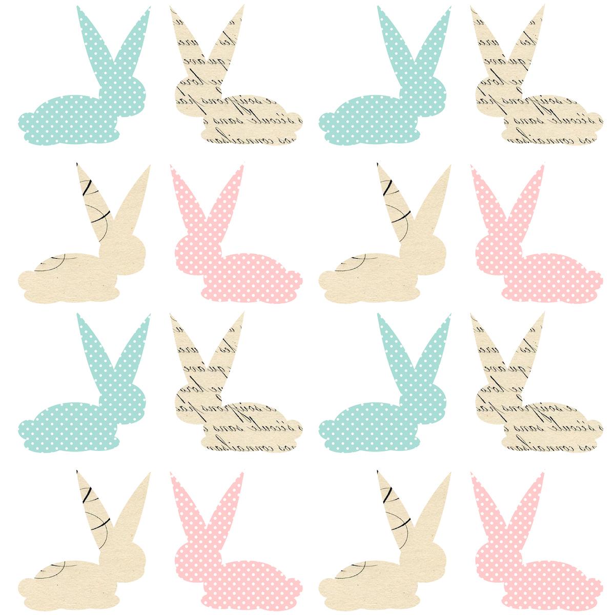 Scrapbook paper baby - Free Digital Bunny Scrapbooking Paper Ausdruckbares Geschenkpapier Freebie