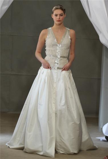 I heart wedding dress carolina herrera bridal spring 2013 for 1920s inspired wedding dresses