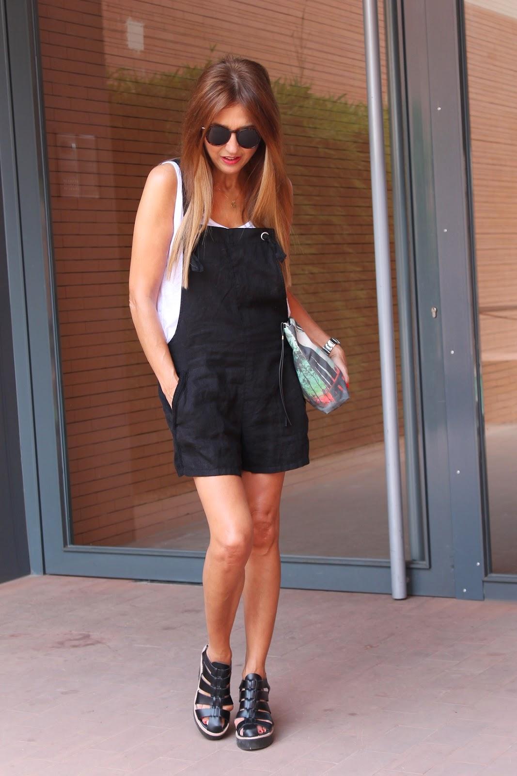 Look, Mono negro, Zara, Trafaluc, Street Style, Fashion Blogger, Fashion Style, Oufit, Summer, Carmen Hummer